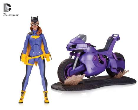 Motorcycling Superheroine Toys - This DC Superhero Action Figure is the 'Deluxe Batgirl of Burnside'