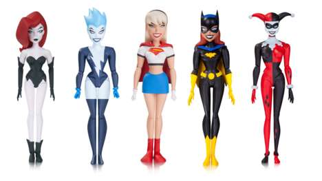 Superheroine Toy Sets - The 'Girls Night Out 5-Pack' Features DC Superheroines and Villainesses