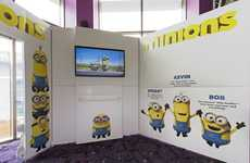 Immersive Movie Marketing Kiosks - Creo Worked with Universal on this 'Minions' Movie Release Kiosk