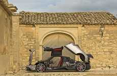 Speedy Lightweight Supercars - The Pagani Huayra BC Hypercar Weighs Far Less Than the Original Model