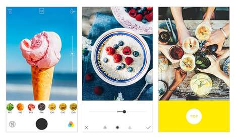 Food-Enhancing Photography Apps - The 'Foodie' App Offers Over 20 Filters to Increase Image Quality