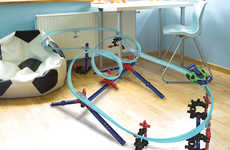 Flexible Toy Car Tracks - Lionel's Mega Tracks Create Courses for Cars That Defy Gravity