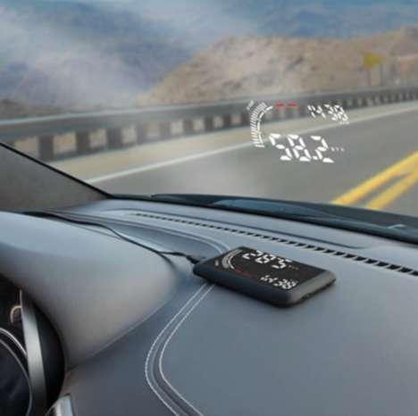 Distraction-Deterring Dashboard Projectors
