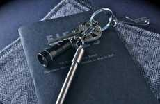Titanium Keychain Writing Utensils - The 'PicoPen' Keychain Pen Clips an Analog Pen Anywhere