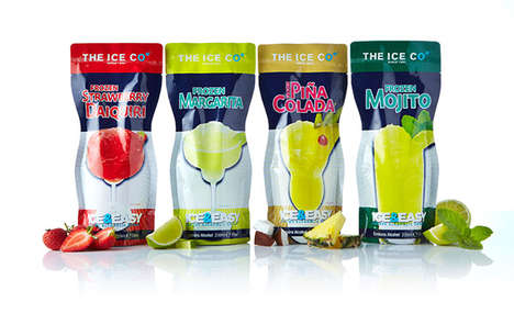 Frozen Alcoholic Slushies - 'Ice & Easy' Frozen Alcoholic Drinks are Meant to Be Enjoyed Chilled