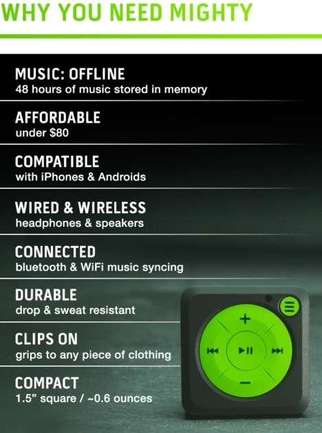 Clip-On Music Players