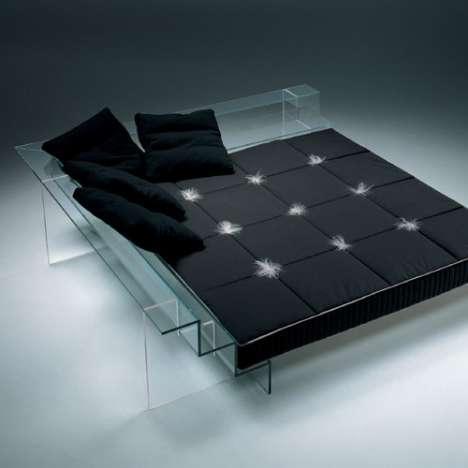 Contemporary Glass Beds