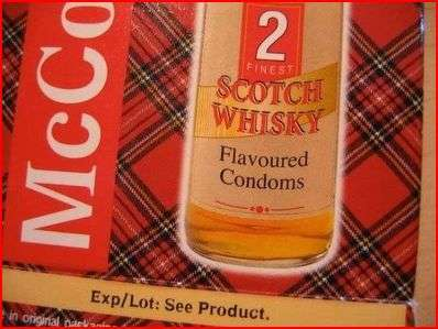 Scotch Flavoured Condoms