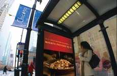 Heated AdverShelters - Kraft Entices Customers with Warmth at Bus Stops