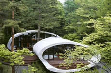 Conch Architecture - Kotaro Ide's Seashell House Is Nestled in the Forests of Japan