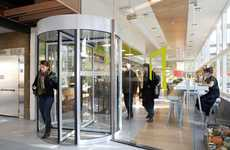 Energy-Generating Revolving Doors - NL Coffee Shop Harnesses Kinetic Energy