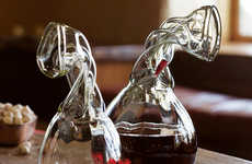 Crumpled Carafes - Knight's Decanters Let You Drink Without Spilling a Drop