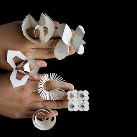 Metallic Origami Rings | Origami ring, Paper ring, Origami paper | 450x450