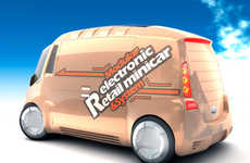 Solar-Powered Ice Cream Trucks - The MERM Minivan is an Eco-Friendly Roach Coach