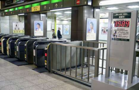 Energy-Generating Subway Station Floors - East Japan Railway Harvests Power from Commuters
