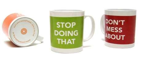 Speech-Minimizing Coffee Cups