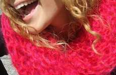 Bright Mohair Scarves - Chunky Accessories to Brighten Dull Winter Days