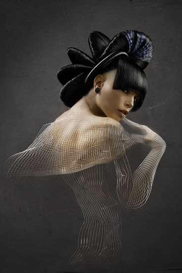 Sculptural Hairtography