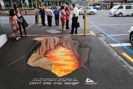 3D Street Art for Pedestrian Safety