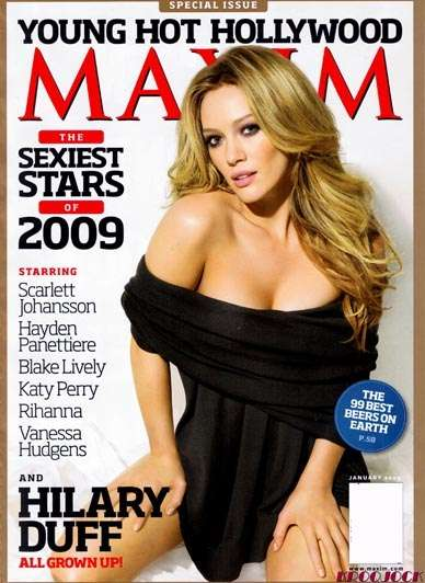 Naughty Youthvertising -  Hilary Duff in Maxim's 'Young Hot Hollywood' Issue