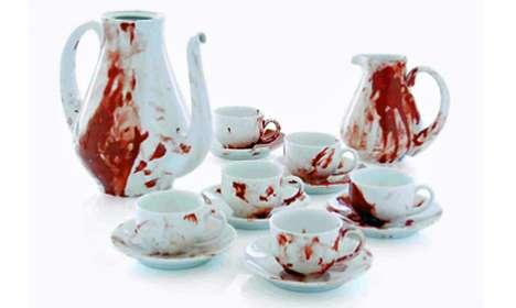 Faux Blood-Splattered China