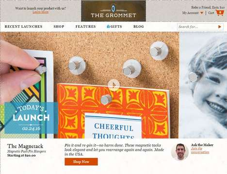 Entrepreneurial Gift Retailers - The Grommet Promotes Artisans While Encouraging Ethical Shopping