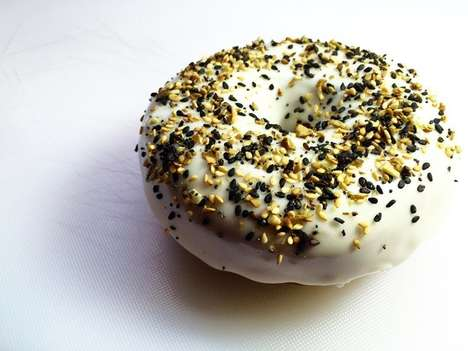 Bagel-Inspired Doughnuts - The Everything Doughnut Features Traditional Bagel Toppings