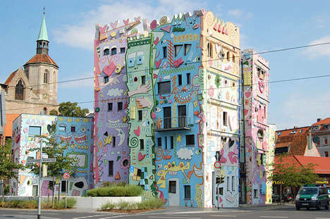 Whimsical Cartoon Buildings