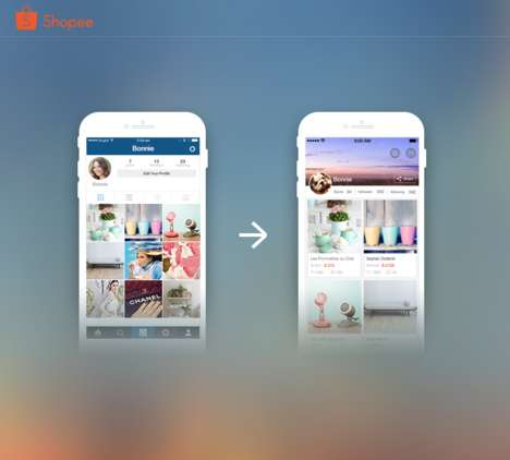 Social P2P Marketplaces - 'Shopee' is a Mobile P2P Marketplace That Can Import Photos from Instagram