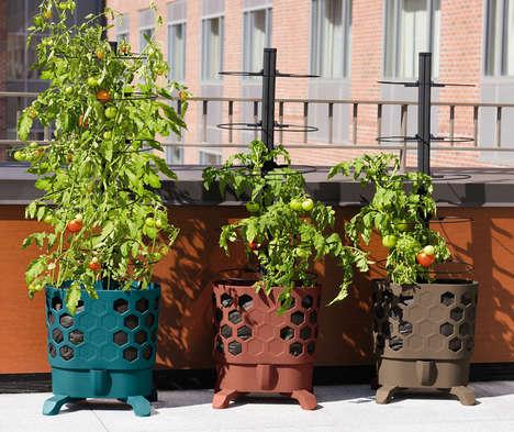 Self-Watering Urban Planters