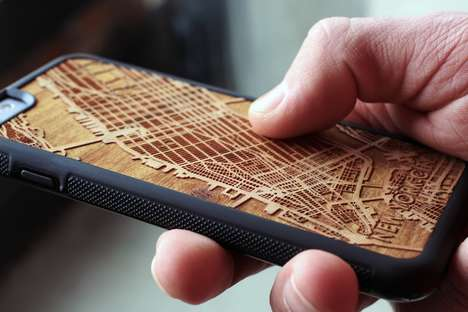 Carved Topographic Smartphone Cases