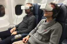 VR Airplane Entertainment Systems - The Skylights Theater In-Flight Entertainment System is Savvy