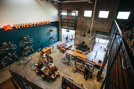 Hybrid Bike Shop Cafes - 'The Wheelhouse' is a Bike Shop That Doubles as a Coffee Bar