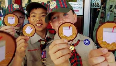 Boy Scout Milk Campaigns