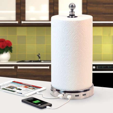 Charging Paper Towel Holders