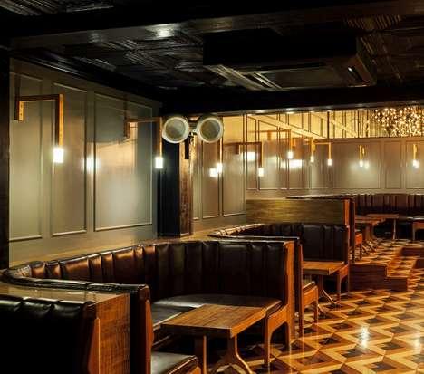Retro Industrial Bar Interiors