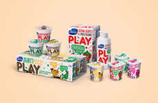 Emoji Fruit Yogurt Branding - Valio Play is a New Range of Swedish Yogurts Targeted at Youth