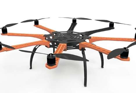 DIY Professional Drone Kits - The FireClouds AirFrame Kit Comes with Everything to Make a Drone