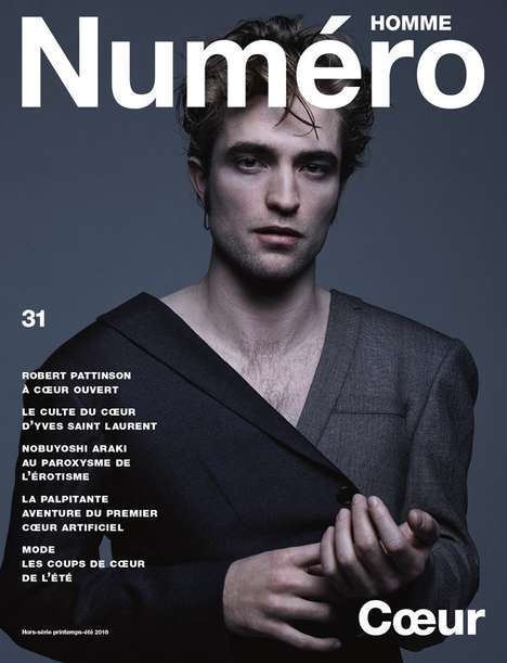 Moody Heartthrob Covers - This Robert Pattinson Numero Homme Exclusive Highlights Edgy Menswear