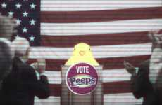 Political Marshmallow Campaigns - This Digital Campaign Pits Peeps Candy Against the Groundhog