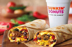Coffee Shop Breakfast Burritos - The New GranDDe Burrito Gives Consumers Savory Breakfast Option
