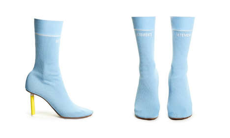 Lighter-Heeled Sock Ankle Boots