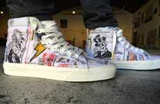 Celebratory Graffiti Sneakers - The Wes Lang x Vans OG Sk8-Hi Kicks Honor Vans' 50th Birthday