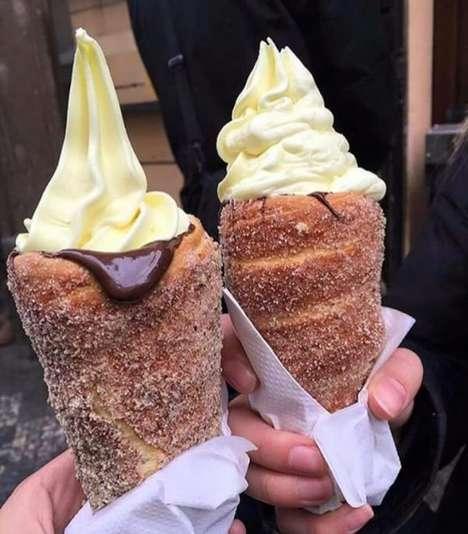Donut Ice Cream Cones