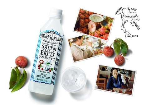 Sweet Sodium-Infused Drinks - The Kirin World Kitchen Salt & Fruit Beverage Blends Lychee and Sodium