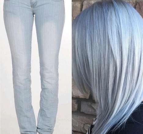 Blue Denim Hair