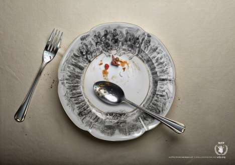 Charitable Leftover Campaigns - The United Nations World Food Programme Ad Shows a Little is a Lot