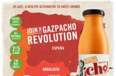 Nutritious Gazpacho Drinks - This Line of Drinkable Gazpacho Provides an Alternative to Sweet Drinks