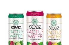 Fair Trade Energy Drinks - The Steaz Cactus Water Natural Health Drink Refreshes and Stimulates