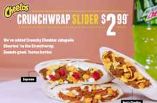 Snack Food-Stuffed Wraps - The New Cheetos Crunchwrap Slider is Made with Spicy Cheese Puffs